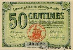 50 Centimes FRANCE régionalisme et divers ROCHEFORT-SUR-MER 1915 JP.107.07 SPL à NEUF