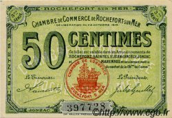 50 Centimes FRANCE régionalisme et divers ROCHEFORT-SUR-MER 1915 JP.107.11 TTB à SUP
