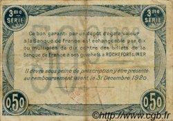 50 Centimes FRANCE régionalisme et divers Rochefort-Sur-Mer 1915 JP.107.11 TB