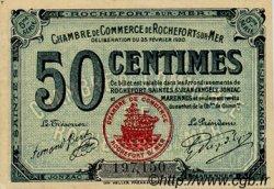 50 Centimes FRANCE régionalisme et divers Rochefort-Sur-Mer 1920 JP.107.17 TTB à SUP
