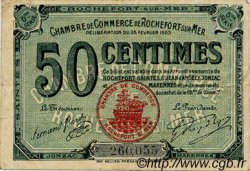 50 Centimes FRANCE régionalisme et divers ROCHEFORT-SUR-MER 1920 JP.107.17 TB