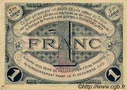 1 Franc FRANCE régionalisme et divers ROCHEFORT-SUR-MER 1920 JP.107.19