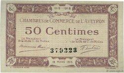 50 Centimes FRANCE régionalisme et divers RODEZ ET MILLAU 1915 JP.108.01 SPL à NEUF