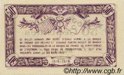 50 Centimes FRANCE régionalisme et divers RODEZ ET MILLAU 1915 JP.108.03 SPL à NEUF