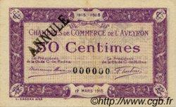 50 Centimes FRANCE régionalisme et divers Rodez et Millau 1915 JP.108.04 SPL à NEUF