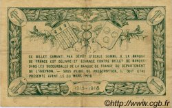 1 Franc FRANCE régionalisme et divers RODEZ ET MILLAU 1915 JP.108.09 TTB à SUP