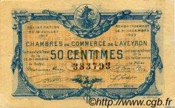 50 Centimes FRANCE régionalisme et divers RODEZ ET MILLAU 1917 JP.108.11 TTB à SUP