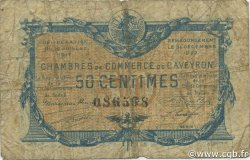 50 Centimes FRANCE régionalisme et divers RODEZ ET MILLAU 1917 JP.108.11 TB