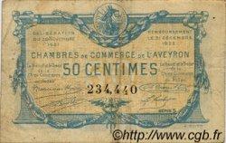 50 Centimes FRANCE régionalisme et divers Rodez et Millau 1921 JP.108.16 TB