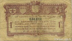 1 Franc FRANCE régionalisme et divers RODEZ ET MILLAU 1921 JP.108.18 TB