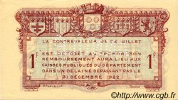 1 Franc FRANCE régionalisme et divers Rodez et Millau 1921 JP.108.19 SPL à NEUF