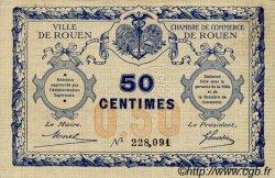 50 Centimes FRANCE régionalisme et divers Rouen 1920 JP.110.01 TTB à SUP