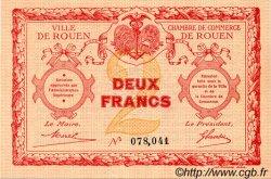 2 Francs FRANCE régionalisme et divers Rouen 1920 JP.110.05 TTB à SUP