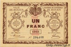 1 Franc FRANCE régionalisme et divers Rouen 1915 JP.110.10 TTB à SUP
