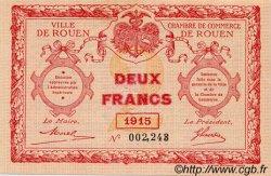 2 Francs FRANCE régionalisme et divers Rouen 1915 JP.110.13 SPL à NEUF
