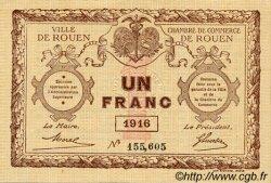 1 Franc FRANCE régionalisme et divers Rouen 1916 JP.110.21 SPL à NEUF