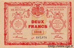 2 Francs FRANCE régionalisme et divers ROUEN 1916 JP.110.25 SPL à NEUF