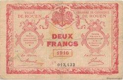 2 Francs FRANCE régionalisme et divers ROUEN 1916 JP.110.25 TB