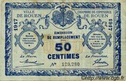 50 Centimes FRANCE régionalisme et divers ROUEN 1917 JP.110.28 TB