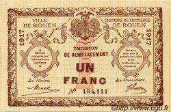 1 Franc FRANCE régionalisme et divers Rouen 1917 JP.110.30 SPL à NEUF
