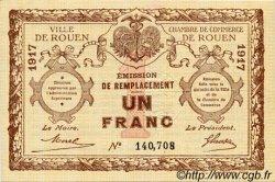 1 Franc FRANCE régionalisme et divers Rouen 1917 JP.110.30 TTB à SUP