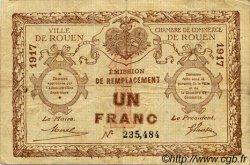 1 Franc FRANCE régionalisme et divers ROUEN 1917 JP.110.30 TB