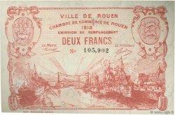 2 Francs FRANCE régionalisme et divers Rouen 1918 JP.110.41 SPL à NEUF
