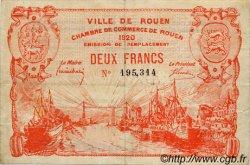 2 Francs FRANCE régionalisme et divers ROUEN 1920 JP.110.52 TTB à SUP
