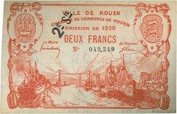 2 Francs FRANCE régionalisme et divers Rouen 1920 JP.110.58 SPL à NEUF