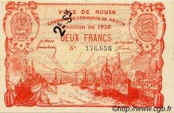 2 Francs FRANCE régionalisme et divers Rouen 1920 JP.110.58 TTB à SUP