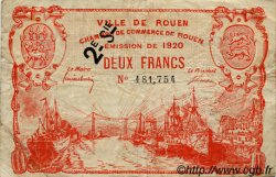 2 Francs FRANCE régionalisme et divers Rouen 1920 JP.110.58 TB