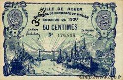 50 Centimes FRANCE régionalisme et divers Rouen 1920 JP.110.61 TTB à SUP