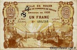 1 Franc FRANCE régionalisme et divers ROUEN 1920 JP.110.62 TTB à SUP