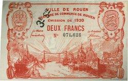 2 Francs FRANCE régionalisme et divers ROUEN 1920 JP.110.63 TTB à SUP