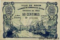 50 Centimes FRANCE régionalisme et divers Rouen 1922 JP.110.64 TTB à SUP