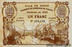1 Franc FRANCE régionalisme et divers ROUEN 1922 JP.110.65 TTB à SUP