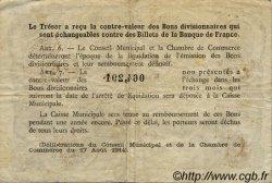 1 Franc FRANCE régionalisme et divers ROUEN 1922 JP.110.65 TB