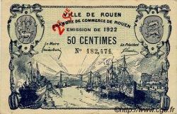 50 Centimes FRANCE régionalisme et divers ROUEN 1922 JP.110.67 TTB à SUP