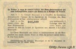 1 Franc FRANCE régionalisme et divers ROUEN 1922 JP.110.68 TTB à SUP