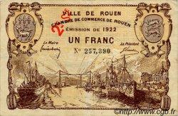 1 Franc FRANCE régionalisme et divers ROUEN 1922 JP.110.68 TB