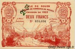 2 Francs FRANCE régionalisme et divers Rouen 1922 JP.110.69 SPL à NEUF