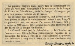 50 Centimes FRANCE régionalisme et divers SAINT-BRIEUC 1918 JP.111.01 SPL à NEUF