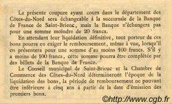 50 Centimes FRANCE régionalisme et divers SAINT-BRIEUC 1918 JP.111.01 TTB à SUP
