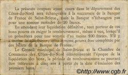 50 Centimes FRANCE régionalisme et divers SAINT-BRIEUC 1918 JP.111.01 TB