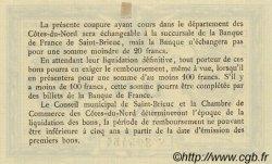 1 Franc FRANCE régionalisme et divers Saint-Brieuc 1918 JP.111.06 SPL à NEUF