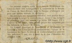 1 Franc FRANCE régionalisme et divers SAINT-BRIEUC 1918 JP.111.06 TB