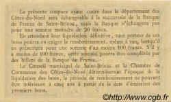 50 Centimes FRANCE régionalisme et divers Saint-Brieuc 1918 JP.111.11 TTB à SUP