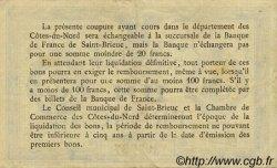 1 Franc FRANCE régionalisme et divers SAINT-BRIEUC 1918 JP.111.12 TTB à SUP