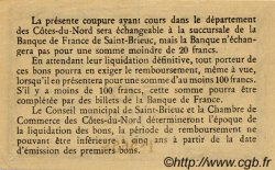 50 Centimes FRANCE régionalisme et divers SAINT-BRIEUC 1918 JP.111.13 TTB à SUP