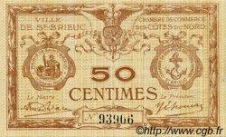 50 Centimes FRANCE régionalisme et divers Saint-Brieuc 1918 JP.111.17 TTB à SUP
